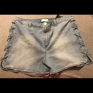 Forever 21+ Lace up Shorts